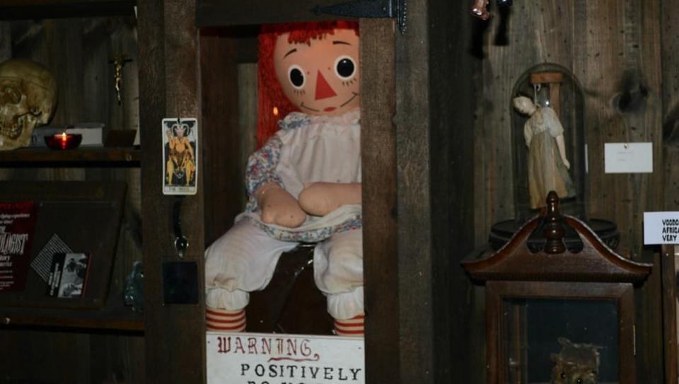 Locked up possessed Annabelle Doll