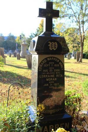 Warren grave at haunted Stepney Cemetery