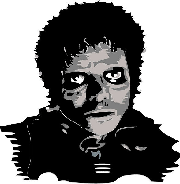 Haunting picture of Micheal Jackson from Thriller