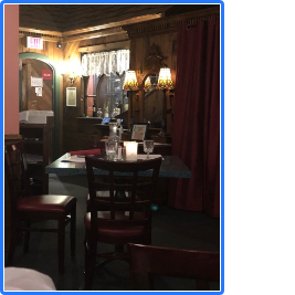 Haunted Dining room of the Twisted Vine Restaurant