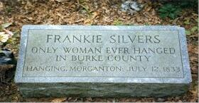 Famous Axe Murders: Frankie Silver's headstone where she is thought to be buried