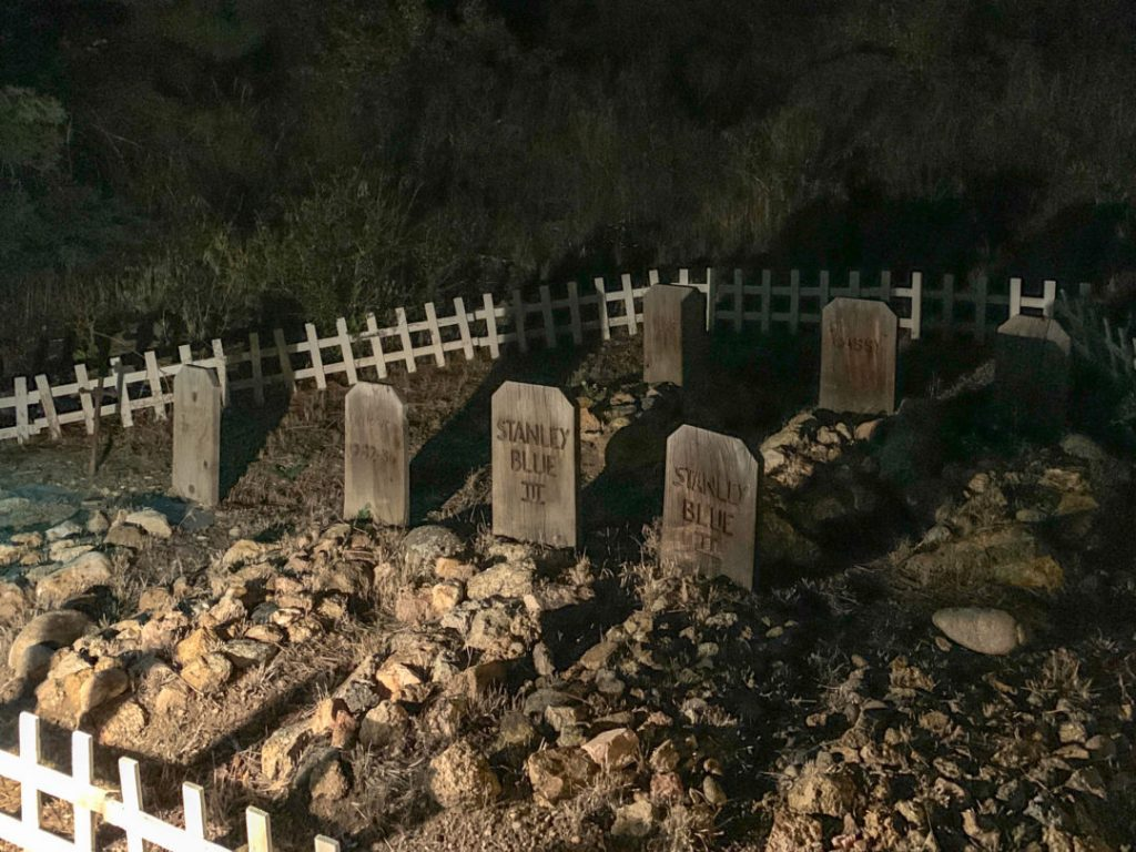 creepy haunted former pet cemetery of the Stanley Hotel
