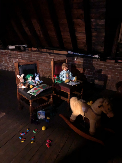 Toys left in the Twisted Vine restaurant attic for the little girl ghost