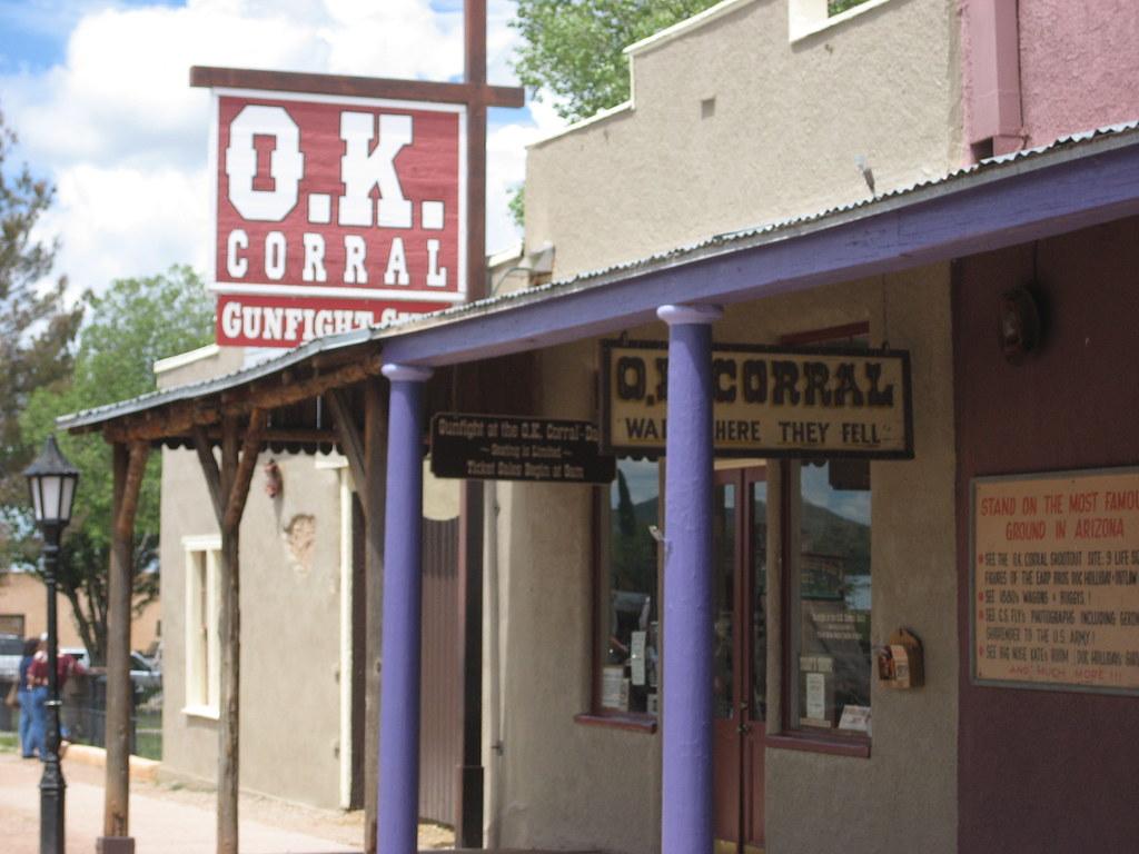 the facade of the o.k. corral
