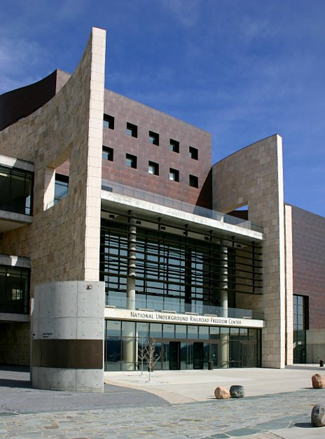 photo shows the facade of the underground railroad freedom center.
