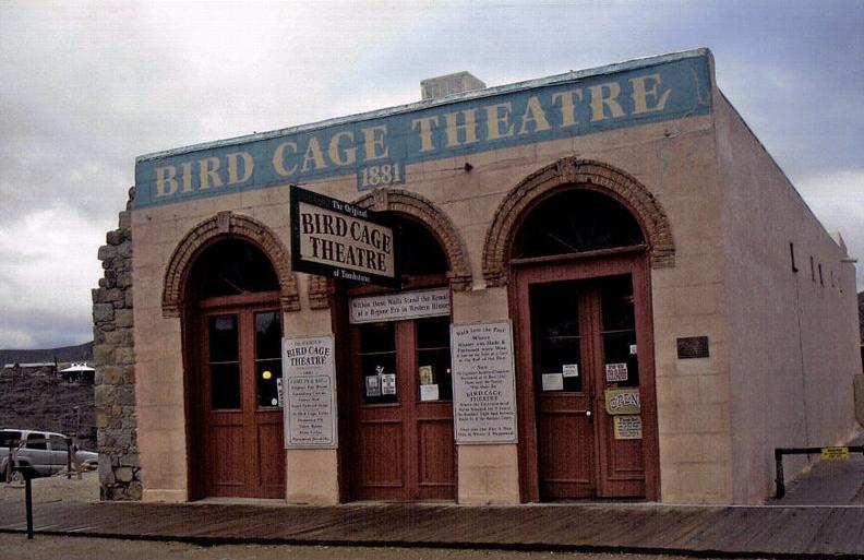 facade of the bird cage theatre